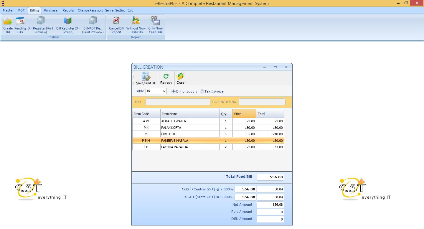 GST Ready POS Software | Restaurant Management Software
