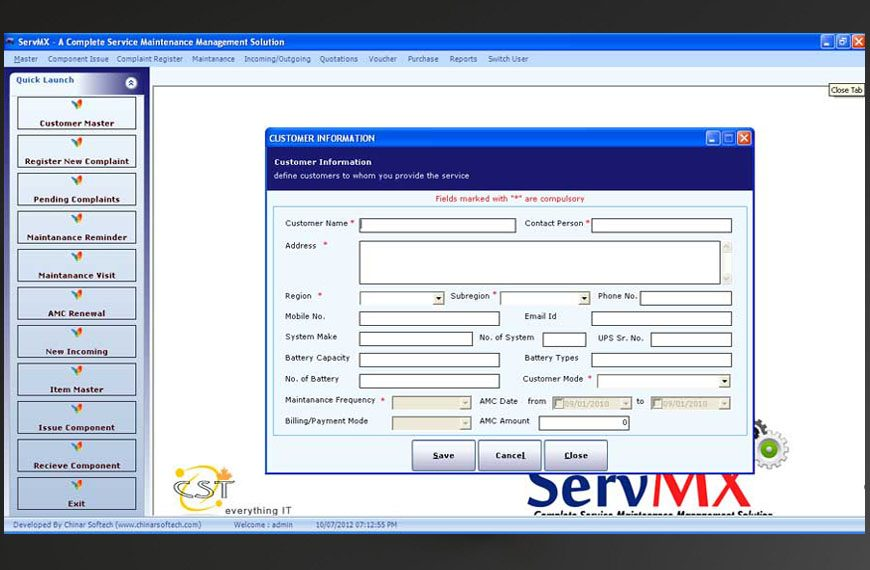 service maintenance software, amc software